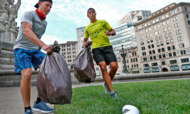 Plogging, correr recolhendo lixo